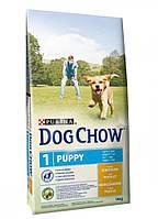 Dog Chow Puppy корм для щенков всех пород с курицей, 14 кг