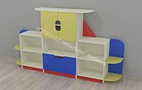 Стенка для игрушек Дождик 2600*420*1200h