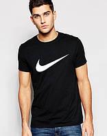 Футболка мужская Nike Найк черная (большой белый принт)