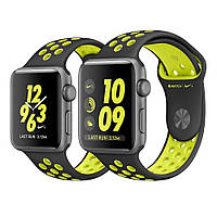 Apple Watch Nike+ 42mm Space Gray Aluminum Case with Black/Volt Nike Sport Band MP0A2 [42mm|Black/Volt Nike Sport Band]
