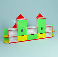 Детская мебель в группу,стенка Замок 3800*420*1900h