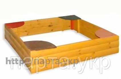 """Детская песочница из дерева блок-хаус 150/150 см """"Стандартная"""""""