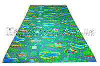 Детский теплоизоляционный развивающий игровой коврик «Городок» 2000×1100×8мм, ХС ППЭ