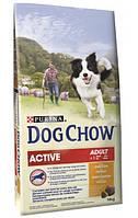 Dog Chow Adult Active корм для взрослых собак с повышенной активностью, с курицей, 14 кг