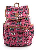 Спортивная женская сумка-рюкзак Б/Н art. 103 розовый бабочки