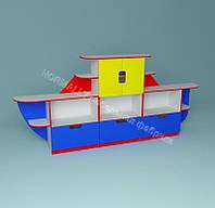 Стенка для игрушек Кораблик 3400*420*1450h