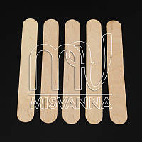 Шпатель деревяный для воска 14.8 х 1.8 см, 10 шт