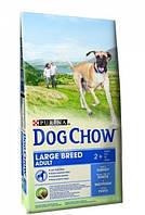 Dog Chow Adult Large Breed корм для взрослых собак крупных пород с индейкой, 14 кг