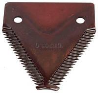 Запчасти к импортной сельхозтехнике. Оригинальный каталожный номер:  611203 сегмент ножа жатки (25шт в упак)