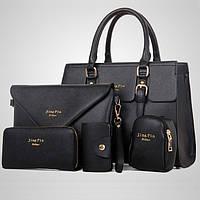 Набор женских сумок, цвет черный, Jing Pin