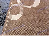 Безворсовая дорожка-рогожка  коричневый Сизаль