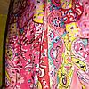 Палантин шёлк розового цвета с растительностью , фото 3
