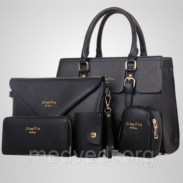 набор черных женских сумок купить