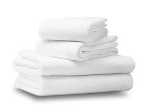 Полотенца махровые, былые с бордюром, плотность 420