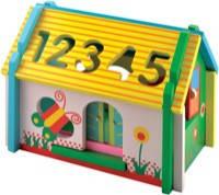 Деревянная игрушка сортер Домик цифры-фигури новый розборной