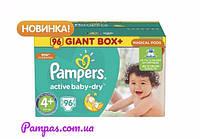 Подгузники Pampers Active Baby-Dry Maxi Plus 4+ (9-16 кг) Giant Box Plus, 82 шт.