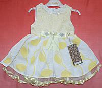 Легкое летнее платье 1-2-3-4 года Алёнка