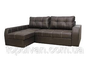 """Кутовий диван """"Батісто-Люкс"""" тканина Амелі ( Пресована замша)"""