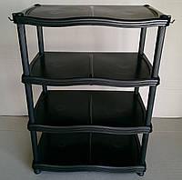 Полка для обуви 4 яруса черная, фото 1