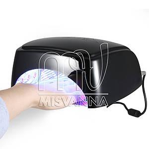 Профессиональная УФ лампа HD-60 LED+CCFL на 60 Вт с таймером 30,60,90,120 сек. (black)