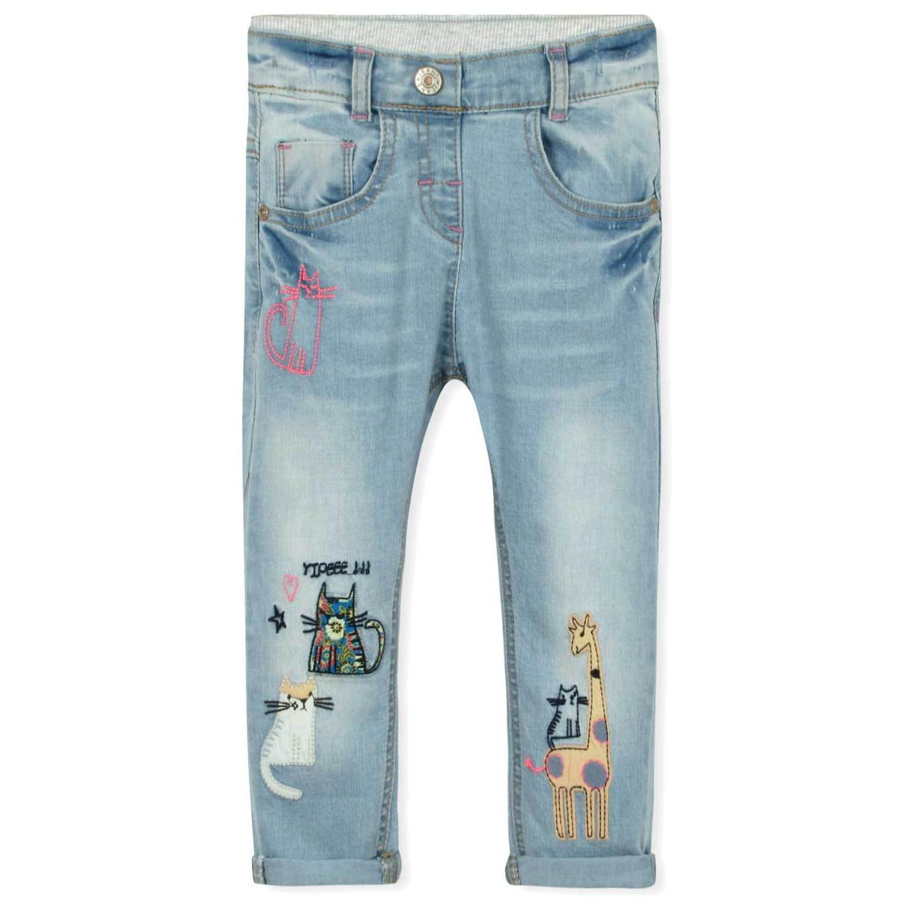 Модные джинсы для девочки на резинке Little Maven, для худышек (р.80/86)