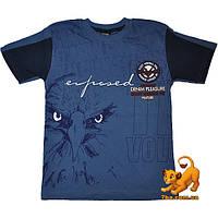 """Летняя футболка """"Eagle Ligue"""" , трикотаж , принт , для мальчика (рост 128-152 см)(5 ед. в уп.)"""