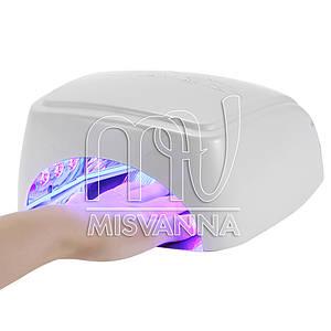 Профессиональная УФ лампа HD-60 LED+CCFL на 60 Вт с таймером 30,60,90,120 сек. (white)