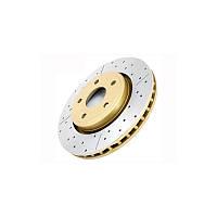 Тормозные диски DBA перфорация с насечкой TOYOTA PRADO 90/120 задние