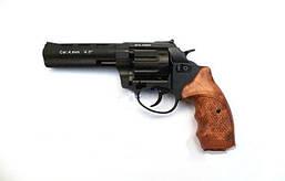 Револьвер под патрон Флобер Stalker 4,5 Силумин (черный/кор.ручка)