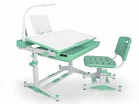 Комплект Evo-kids (стул+стол+полка+лампа) BD-04 Z New (XL) Green с лампой Mealux