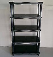 Полка для обуви 5 ярусов Каскад черная, фото 1