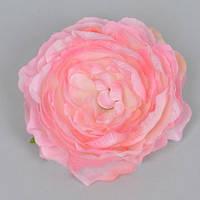 Головка Камелии 10 см розовая