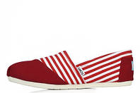 Слипоны мужские Toms Classic Slip-On red-white