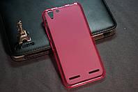 Чехол бампер силиконовый Lenovo A6020 Vibe K5  K5 plus цвет розовый