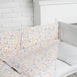Комплект білизни в дитяче ліжечко (Веселий зоопарк)