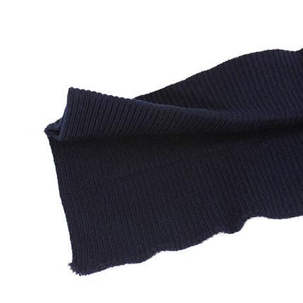 Резинка манжетная довяз, синяя, фото 2