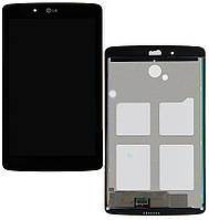 Дисплей (LCD) LG V400 G Pad 7.0 с сенсором черный + рамка