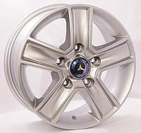 Литые диски Replica Mercedes (BK473) R15 W6.5 PCD5x130 ET54 DIA84.1 (silver)