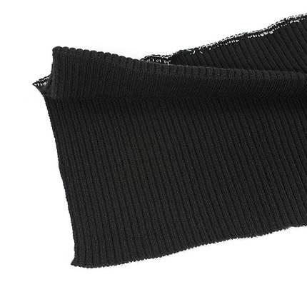 Резинка манжетная довяз, черная, фото 2