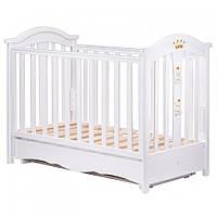 Детская кроватка в Розницу Трия Royal (маятник-ящик) белая купить в Украине опт 7 км