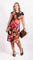 Платье женское черного цвета с цветами