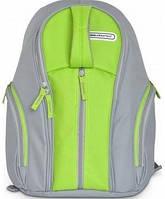 Терморюкзак 22 л: основной отдел + 3 кармана, трёхслойный материал, 30х18х41 см, серый/зелёный