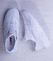 Кроссовки мужские найк хуарачи белые Nike Air Huarache Run Triple White