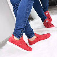 Кроссовки женские Adidas Stan Smith красные, спортивная обувь
