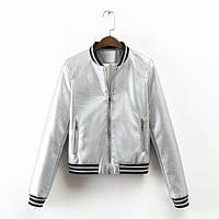 Стильная куртка , золотая и серебряная, фото 1