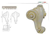Ножка меблева фігурна букова DV Art. 0311