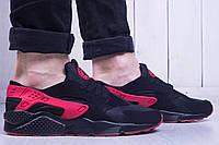 Кроссовки мужские найк хуарачи Nike Huarache Black And Red