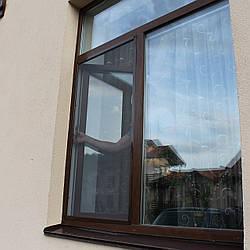 Москитная сетка на пластиковое окно коричневая