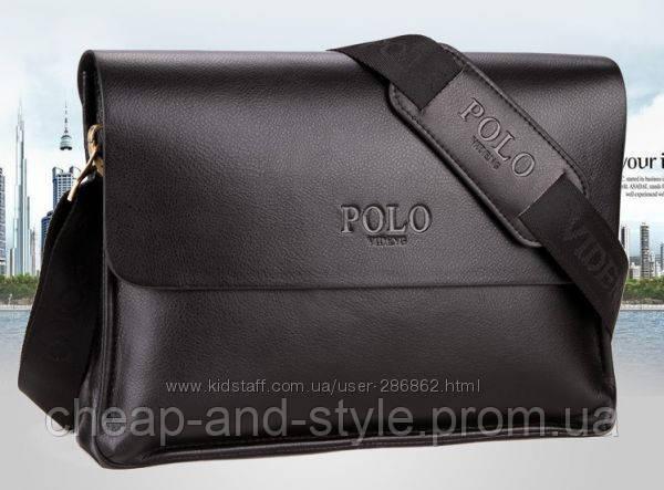 a1eab5ba0688 Мужская стильная кожаная сумка POLO горизонтального формата (черная). Сумка-планшетка  - сумка