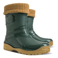 Демисезонные резиновые сапоги DEMAR Young Fur (зеленые)